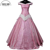 Top Quality 2018 New Arrival Sleeping Beauty Princess Aurora Cosplay Costume For Adult women Party Costume Dress Custom Made