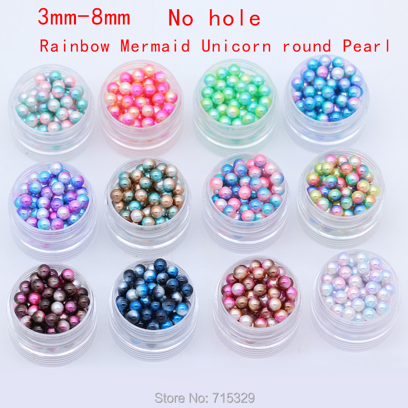 4// 6// 8// 10mm Gold Acrylic Round Pearl Spacer Loose Beads Jewelry Making