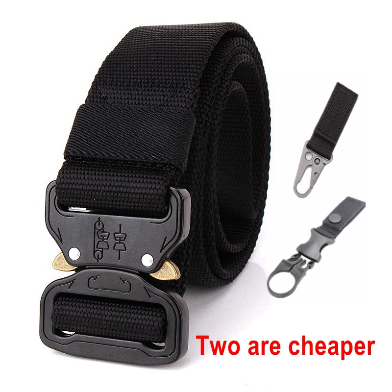 Tactical Nylon   Belt   Army   Belt   Plus Size Military Metal Buckle Active   Belt   Outdoor High Quality Hunting Accessories Men   Belt