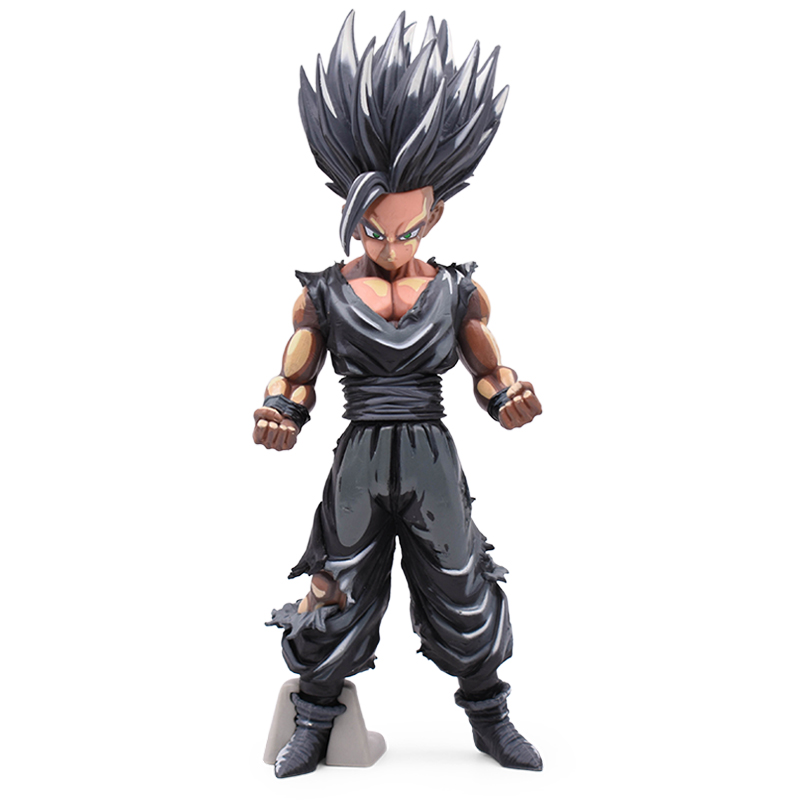 22CM Dragon Ball Z Super Saiyan MSP Black Chocolate Son Goku Vegeta Gohan Master Stars Piece Goku  PVC  Action Figure Toys