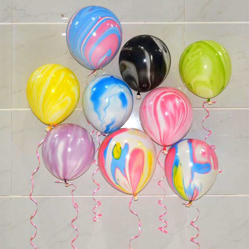 Birthday Dekoration Ballon Geburtstags Deko Party 10 Luftballons klar Wolken