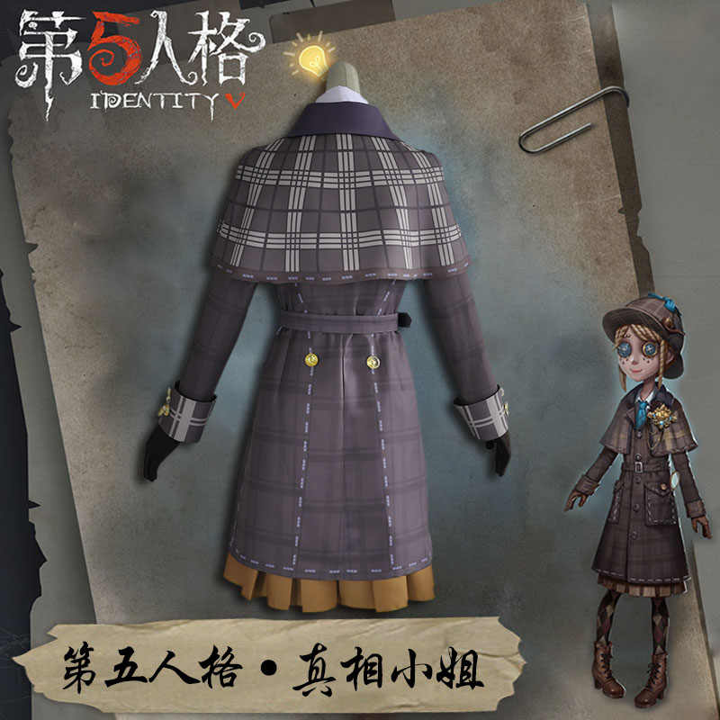 Anime! Identity V Emma Woods Miss Truth The First Anniversary British  Detective Gothic Uniform Cosplay Costume NEW Free Shipping