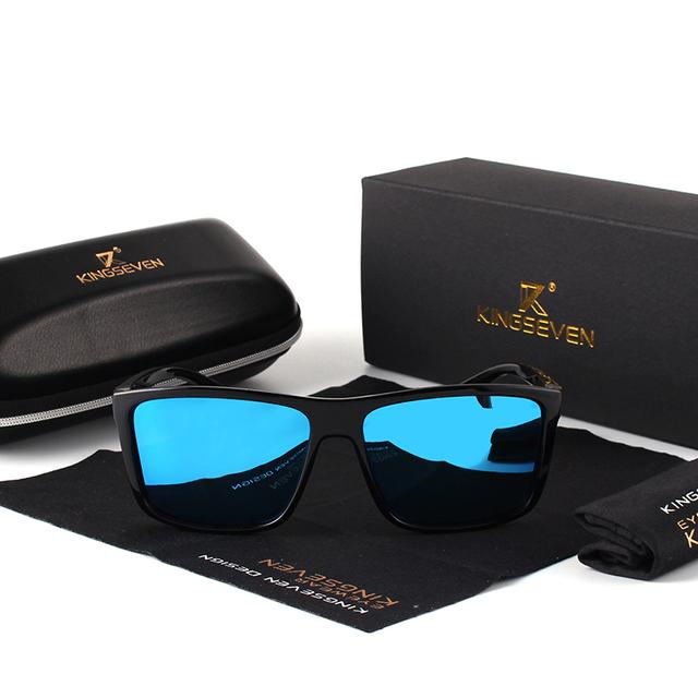 KINGSEVEN Brand Vintage Style Sunglasses Men UV400 Classic Male Square Glasses Driving Travel Eyewear Unisex Gafas Oculos S730