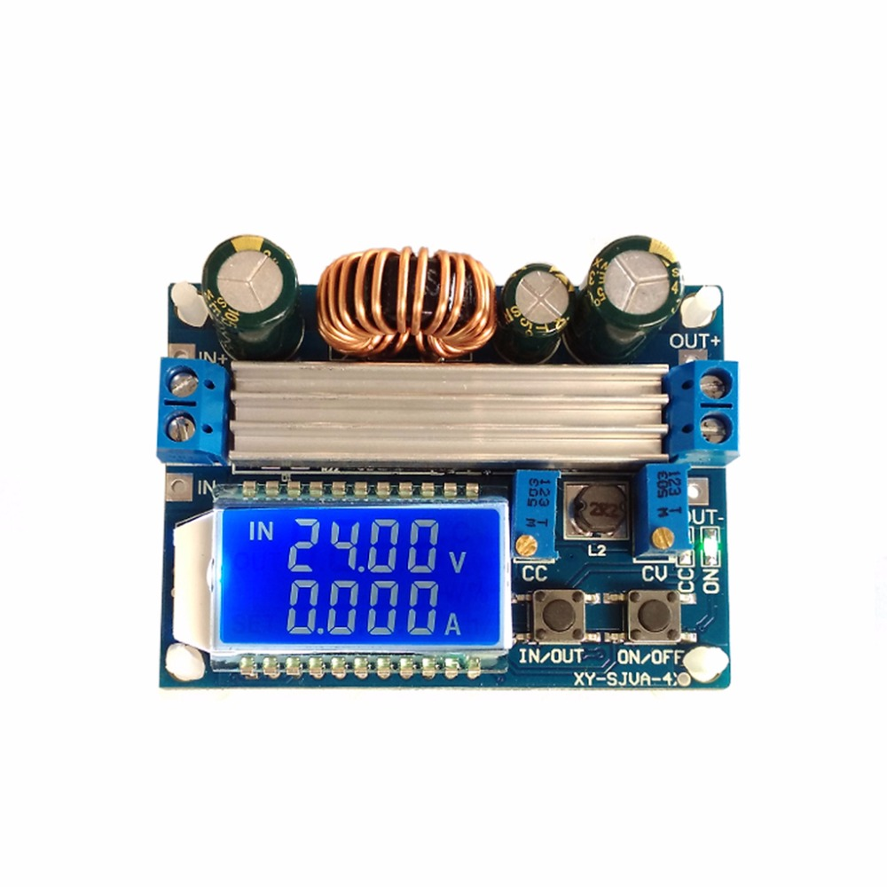4A Buck-Boost Converter Module Adjustable Buck Boost Board With LCD Display ...