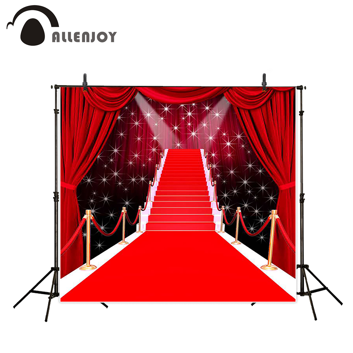 Allenjoy background photography long red carpet glitter wedding backdrops photocall fantasy props photobooth photo studio 12pcs set children kids toys gift mini figures toys little pet animal cat dog lps action figures