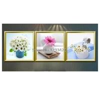 Full Square/Round Diamond 5d Diy Diamond Painting daisy 3D Embroidery Cross Stitch Mosaic Decor Painting Home Gift 3Pcs