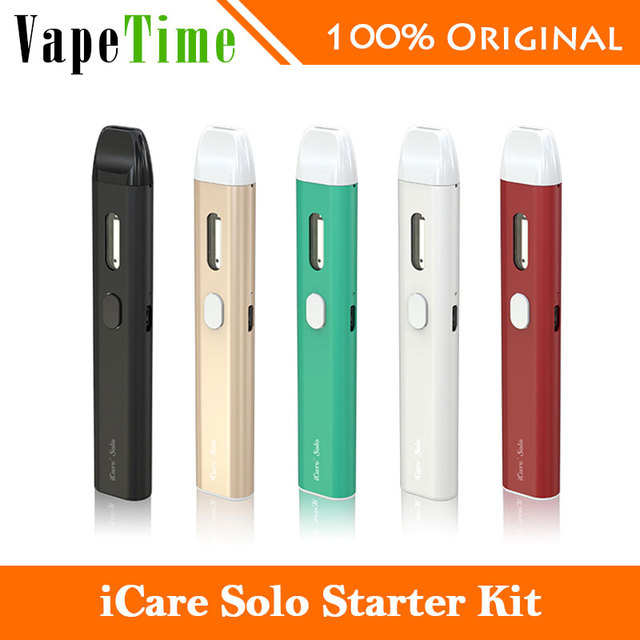 Eleaf iCare Solo Kit 320mah Battery IC head 1.1ohm 1.1m Internal Tank Simple Cute Electronic Cigarette Gift solo vaping Original