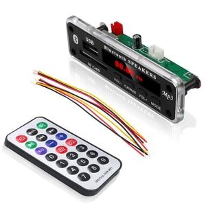 Image 4 - 5V 12V Wireless Bluetooth MP3 WMA Decoder Board Audio Module Support USB SD AUX FM Audio Radio Module For Car Accessories