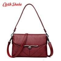 Cloth Shake 2018 Spring Summer Fashion Crossbody Bags Ladies Shoulder PU Leather Bags New Shopping Hobos