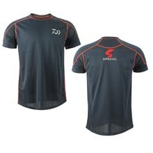 Daiwa Anti-UV летняя походная футболка с круглым вырезом дышащая одежда для рыбалки футболки Влагоотводящая быстросохнущая одежда для рыбалки