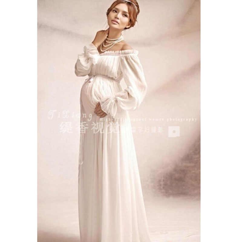 Новое Королевское стильное белое платье на завязках для беременных реквизит для фотосессия для беременных длинное платье Ночная рубашка