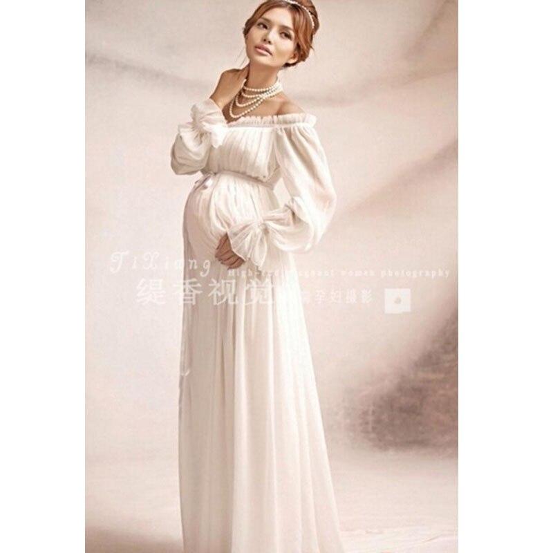 a2bc55e74 Las mujeres 2019 Bohemia vestido de verano costuras sexy Vestido corto de  gasa de manga larga. Nuevo vestido de encaje de maternidad blanco de estilo  real ...