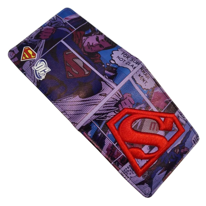 New Superman Wallet DC Comics Anime Hero Purse Embroidery Men Card Holder Bags carteira Creative Gift Leather Short Wallets