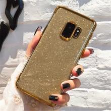For Samsung Galaxy A9 J2 J3 J4 J5 J6 J7 J8 Plus EU 2017 2018 Grand Prime M10 M20 M30 Crystal Sequins Glitter Bling Case Cover