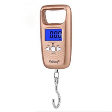 Scale Hook Fishing Mini Hanging Scale Pocket Portable 50kg LCD Digital Hanging Luggage Weighting Fishing Hook Scale Electronic laboratory balance scale 50g 0 001g high precision jewelry diamond gem lcd digital electronic scale counting function portable
