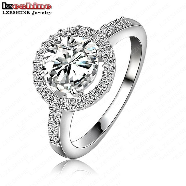 LZESHINE Luxury High Quality Hearts & Arrows Micro Inlay Cut Cubic Zirconia Wedding/Engagement Rings For Women Jewelry CRI0001