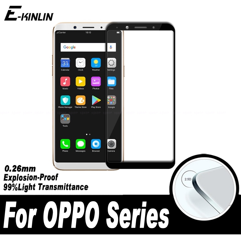0.26mm 2.5D Full Cover Screen Protector Protective Film For OPPO F5 Youth F1 Plus F1s Tempered Glass