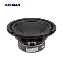 AIYIMA 6,5 дюймов НЧ динамик резиновый боковой сабвуфер громкий динамик 4 8 Ом 80 Вт Колонка Высокая мощность DIY динамик звуковая система