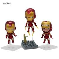 Super Heroes The Avengers Q Iron Man 3pcs Set High Quality PVC Action Figure Toys Dolls