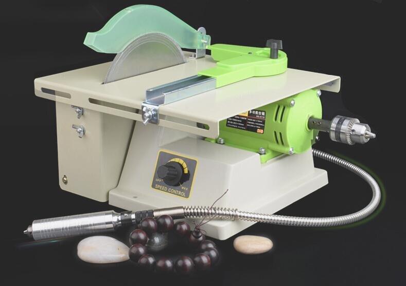 1380 W multifonction Mini Table scie pierre polisseuse Jade gravure Machine meulage Table scies Jade machine de découpe 220 V