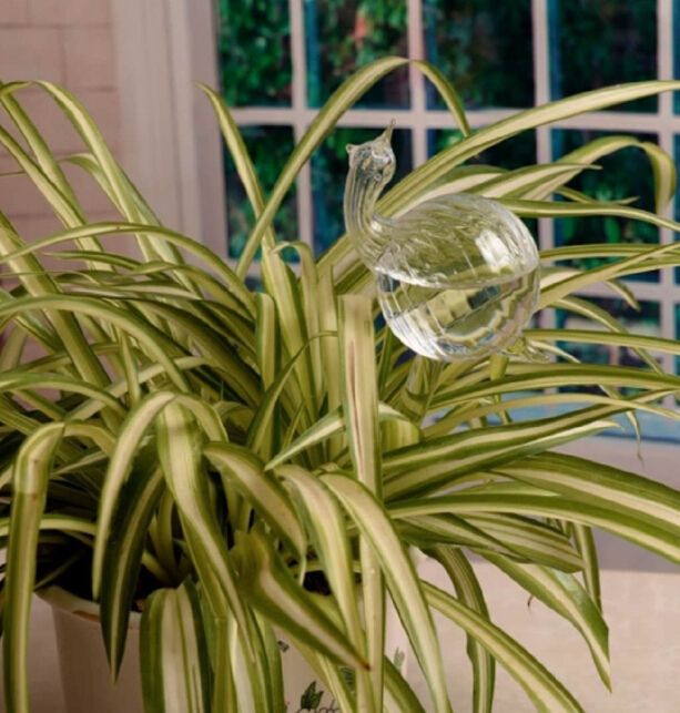Стеклянные растения, цветы, кормушка для воды, самополивающаяся птица, дизайн, растение, водонагреватель, 6 видов - Цвет: as picture shown3