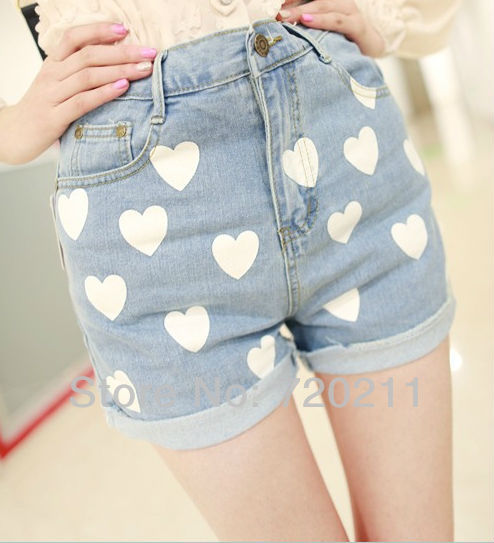 Cheap High Waisted Jean Shorts - Trendy Clothes