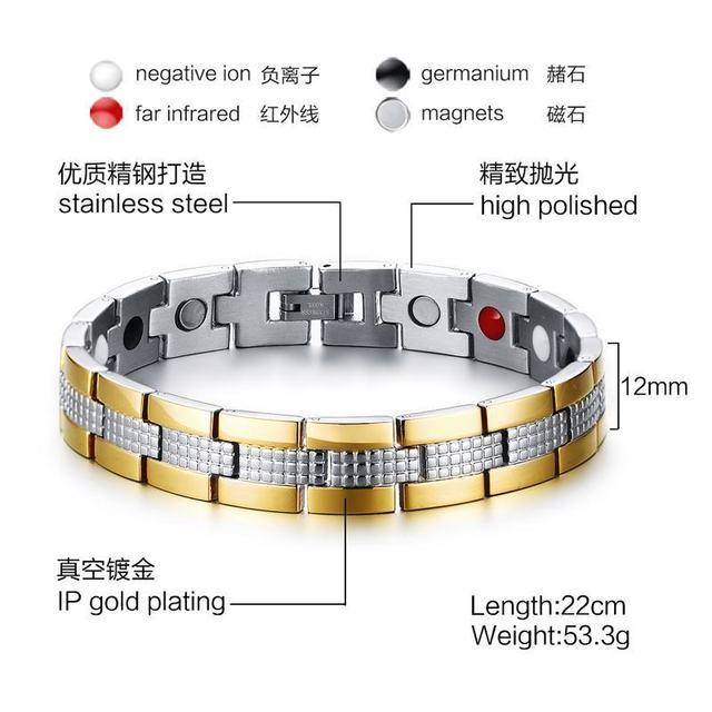 Купить мужские браслеты высокого качества из нержавеющей стали магниты картинки