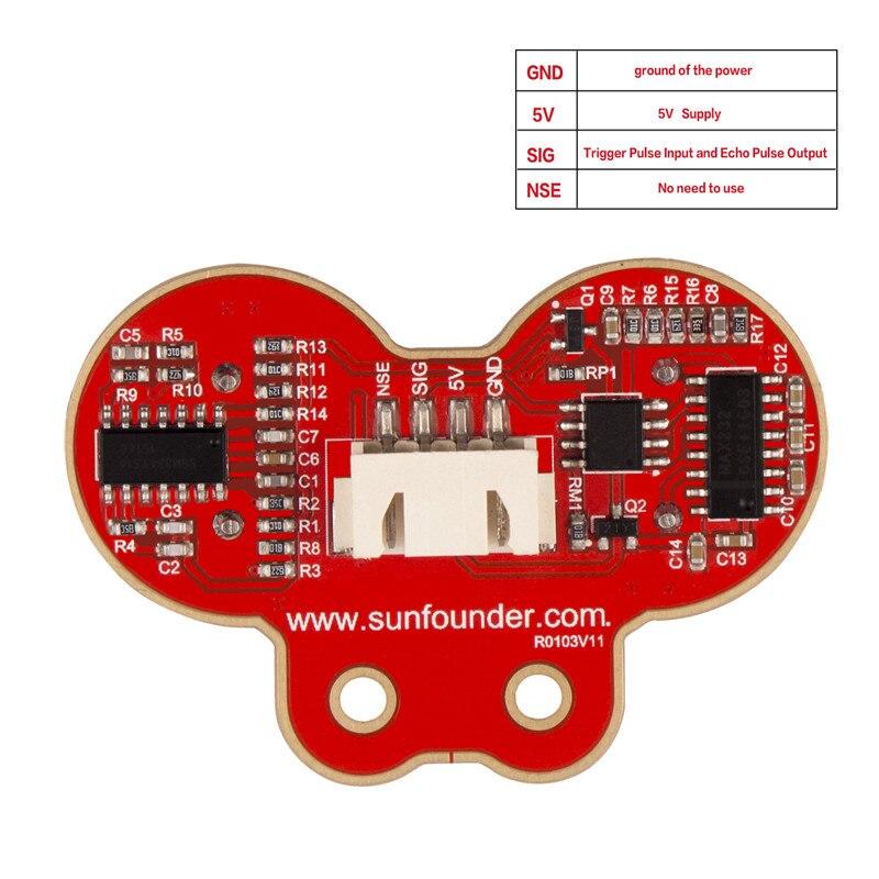 SunFounder Ultraschall Modul SF-SR02 Abstand Sensor Messumformer Sensor für Arduino, Rapsberry Pi, XBee ZigBee