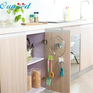 Ouneed Plastic Kitchen Pot Cover Sucker Tool Storage Rack
