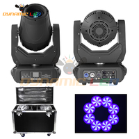 2pcs with Case 250W Beam Moving Head Light Dmx 512 led stage effect moving head beam dj light