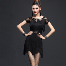 YiQuanYiMei Fashion women Dresses latin dance dress Skirt Women Latin Tango Ballroom Salsa Dance Dresses Party Costume Tassel