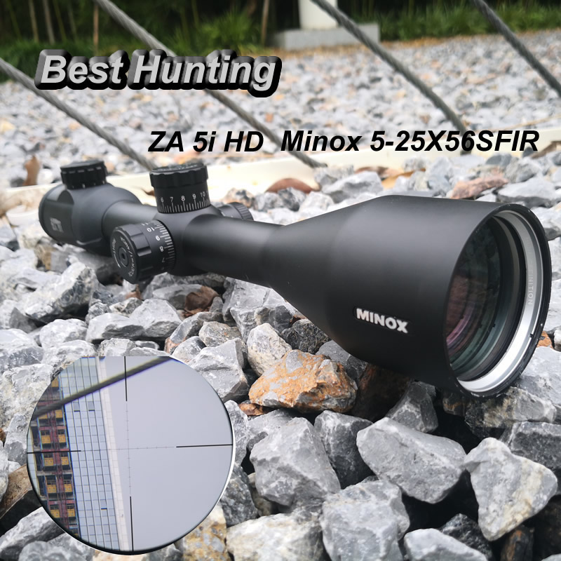 Minox ZA 5i HD 5-25X56 SFIR Multi-coated Lens Riflescopes with Glass Etched Reicle Side Parallax Optic Sight Turrts Lock Reset бинокль minox bl 8x52 hd