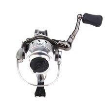 Portable Gear Ratio 4.3:1 Ice Fishing Reel Mini Pole Line Spinning Reels Metal Steel Lightweight Pre-Loading Spinning Wheel