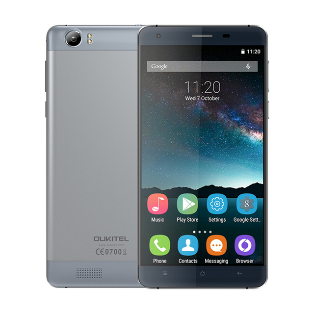 "Original Oukitel K6000 Android 5.1 Cellphone MTK6735P Quad Core 2G RAM 16G ROM Mobile Phone 6000mAh Battery 5.5"" HD Smartphone"