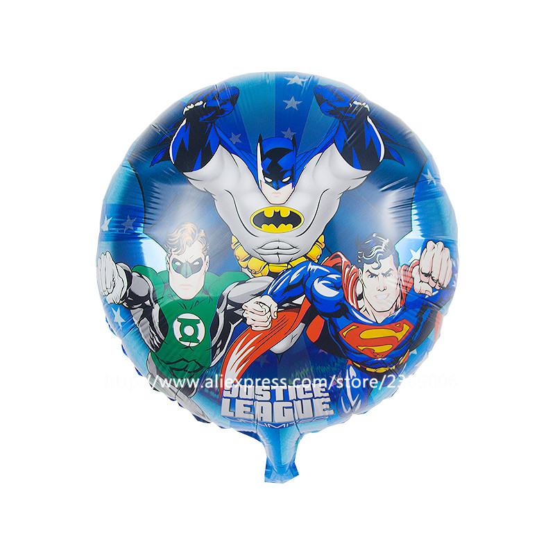 Pcs lot inch justice league balloons aluminium foil