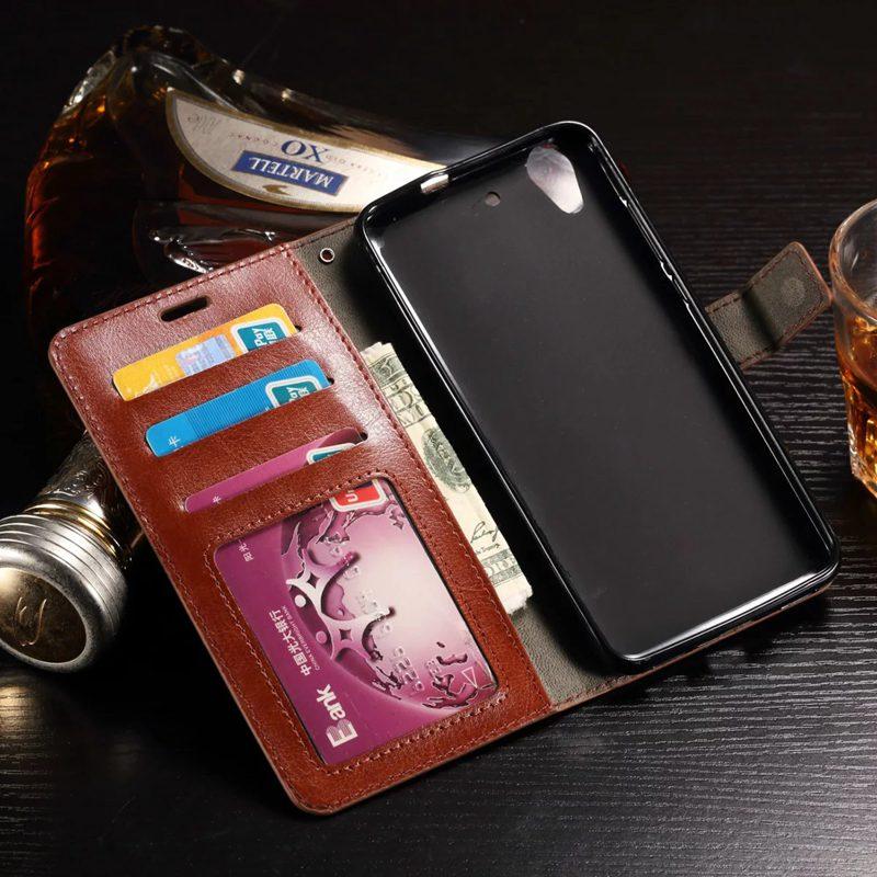 Tuke de lujo pu leather case para huawei y6 2 y6 ii cubierta del teléfono del tirón para huawei y6ii 5a estuche protector bolsas de accesorios del teléfono