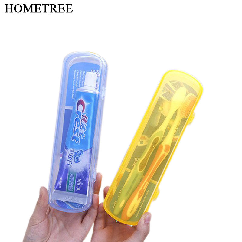 HOMETREE New Protable Outdoor Travel Toothbrush Storage Box Holder Tooth Mug Toothpaste Towel Cup Bath For Camping Holiday H142 image