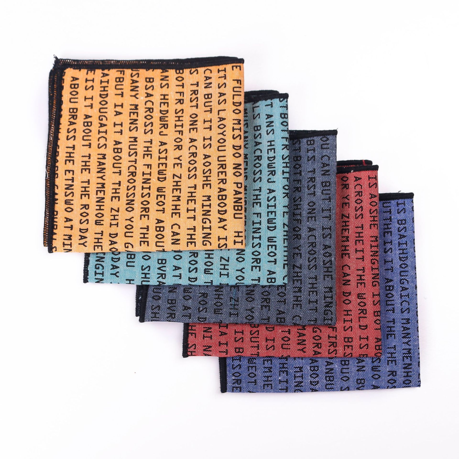 Alphabet Printed Pocket Towel Fun Leisure Men's Towel Men's Square Clothing Men's Formal Suit Handkerchief Wholesale