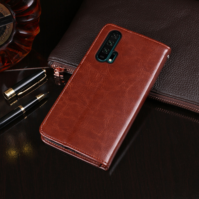 For Huawei Honor 20 Pro Case Flip Wallet Business Leather Capa Phone Case For Huawei Honor 20 Pro Cover Fundas Accessories