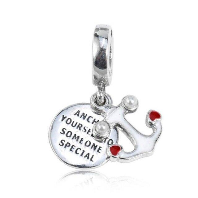 260f2837b 2018 Summer New 925 Sterling Silver Bracelet DIY Bead Accessories Love Anchor  Anchor Pendant Fits Pandora