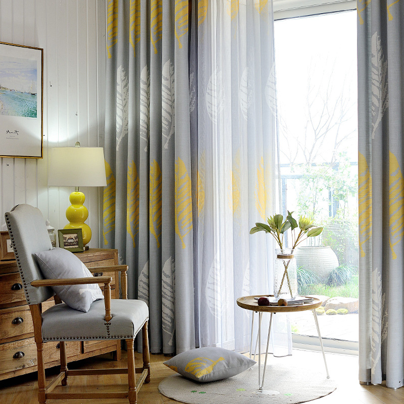American country style curtains for living dining room - Tende da porta ...