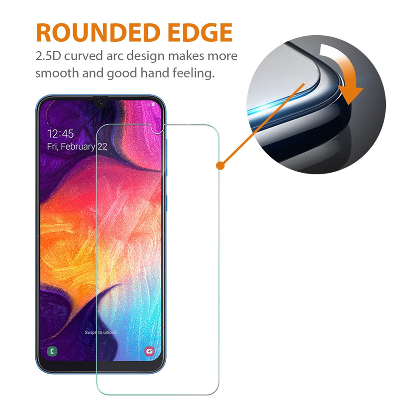 Tempered Glass Film for Samsung Galaxy A7 A9 2018 A50 A70 A30 A40 A60 A80 M20 A10 A20 A20E Screen Protector protective Glass 9H in Phone Screen Protectors from Cellphones Telecommunications