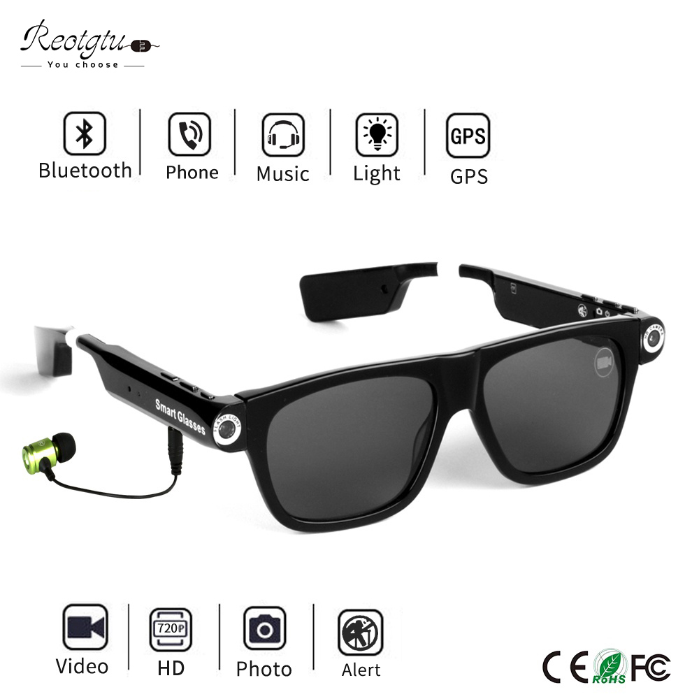 2019 New Mini Camera HD 1080P Sports DV Bluetooth Smart Sunglasses Outdoor Sport DV With Emergency Lighting And Headset 2019 New Mini Camera HD 1080P Sports DV Bluetooth Smart Sunglasses Outdoor Sport DV With Emergency Lighting And Headset