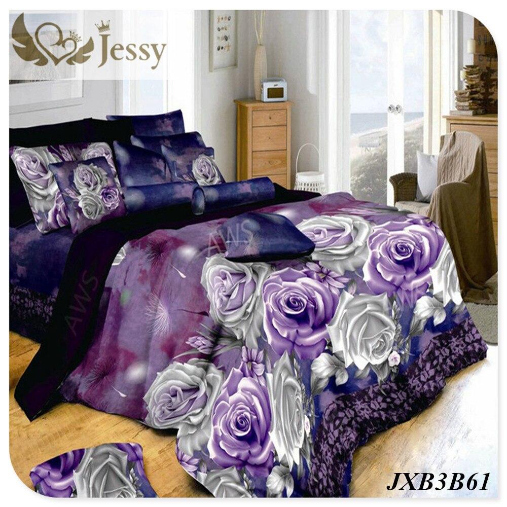 3d Daisy Purple Flower Print Bedding Set Queen Size 3d