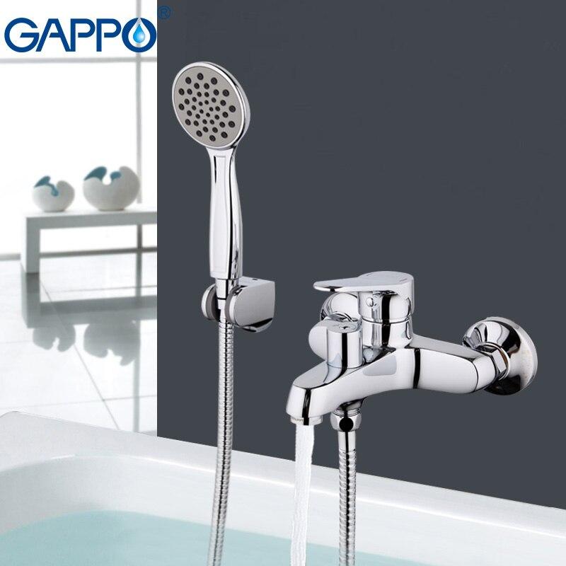 GAPPO Bathtub faucet Rainfall Bath tub taps Chrome bathtub mixer bath faucet wall mount robinet baignoire