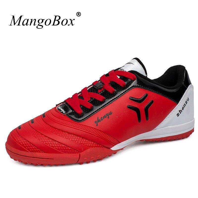 קל משקל נעלי כדורגל לגברים נחמד ילדים נעלי החלקה התנגדות מקורה כדורגל סניקרס זול כדורגל אתחול