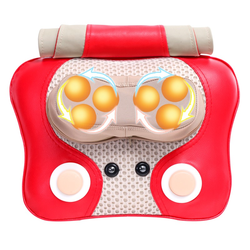 Cervical Lumbar Massage Cushion Pillow 3d Kneading Heating Electric Vibrating Massager Shiatsu Shoulder Back Neck Electronic in Massage Relaxation from Beauty Health