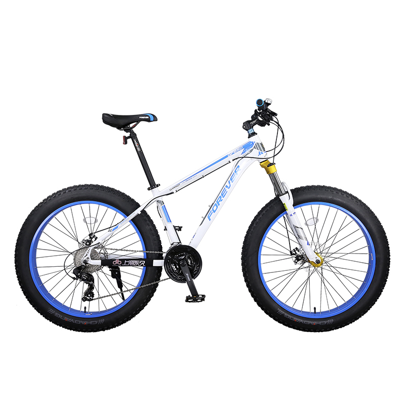 Aluminum Alloy Mountain Bike Super Wide Tire Coarse Tire Beach Big Tire Adult Bicycle