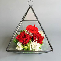 Kristall Form Terrarien Großhandel Tabletop Vase Pyramidentyp Kreative Geschenk Hanabusa Glas Terrarien Garten Flaschen Terrarien
