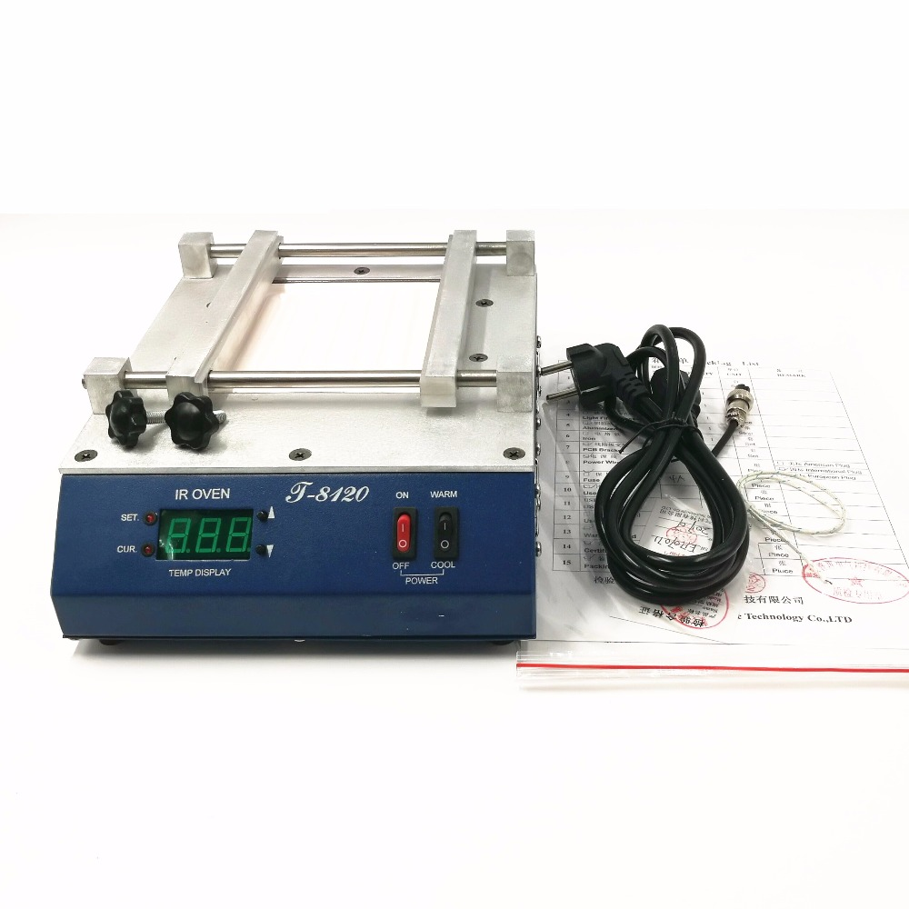 PUHUI T 8120 200 240MM SMD Infrared Preheating PID Temperature Controlling Preheating Station heating Plamform
